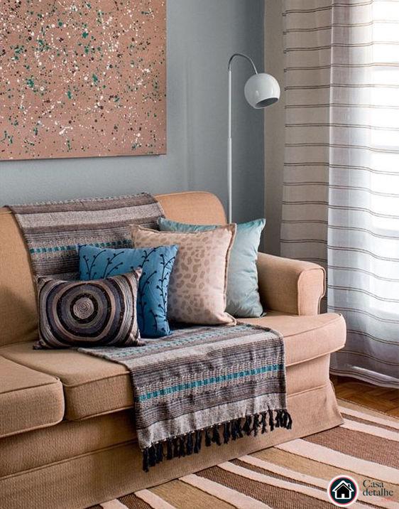 3 maneiras simples de usar mantas para sof casa detalhe - Manta de sofa ...